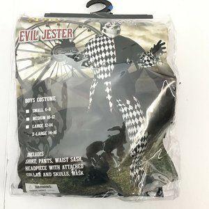 Spirit Halloween Evil Jester Boys Costume Size XL